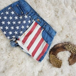 Forever 21 | Denim American Flag Shorts